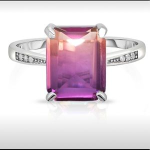 4.00 CTTW Genuine Ametrine Ring